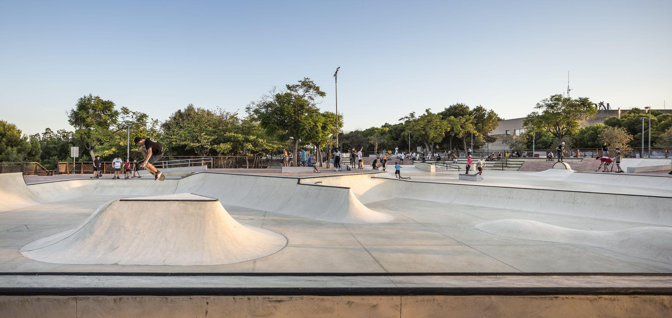 Skatepark, losa, llosa, pavimento, adoquín, adoquines